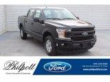 2019 Agate Black Ford F150 XL SuperCrew 4x4 #135924781