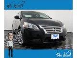 2014 Super Black Nissan Sentra S #135924695