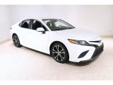 2019 Super White Toyota Camry SE #136021219