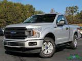 2019 Ingot Silver Ford F150 XL Regular Cab 4x4 #136110436