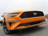 2018 Orange Fury Ford Mustang EcoBoost Fastback #136257962