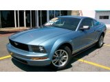 2005 Windveil Blue Metallic Ford Mustang V6 Deluxe Coupe #13596471