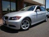 2008 Titanium Silver Metallic BMW 3 Series 328i Sedan #13605788