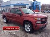 2020 Cajun Red Tintcoat Chevrolet Silverado 1500 Custom Crew Cab 4x4 #136442197