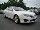 2010 White Platinum Tri-coat Metallic Ford Fusion SE #13610734