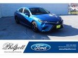 2019 Blue Streak Metallic Toyota Camry SE #136569428