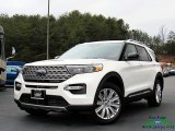 2020 Star White Metallic Tri-Coat Ford Explorer Limited 4WD #136858597