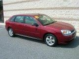 2005 Sport Red Metallic Chevrolet Malibu Maxx LS Wagon #13683409