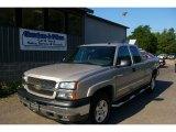 2005 Sandstone Metallic Chevrolet Silverado 1500 Z71 Extended Cab 4x4 #13676013