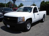 2008 Summit White Chevrolet Silverado 1500 Work Truck Regular Cab 4x4 #13671925