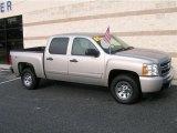 2008 Silver Birch Metallic Chevrolet Silverado 1500 LT Crew Cab 4x4 #13683374