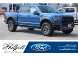 2019 Performance Blue Ford F150 SVT Raptor SuperCrew 4x4 #136938484