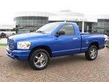 2007 Electric Blue Pearl Dodge Ram 1500 ST Regular Cab #13681195