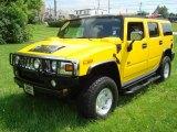 2003 Yellow Hummer H2 SUV #13660237