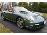 2008 Malachite Green Metallic Porsche 911 Turbo Cabriolet #1367843