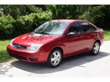 2005 Sangria Red Metallic Ford Focus ZX4 S Sedan #13675915