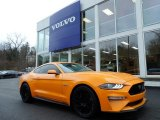 2018 Orange Fury Ford Mustang GT Premium Fastback #137380173