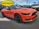 2015 Competition Orange Ford Mustang EcoBoost Premium Coupe #137380204