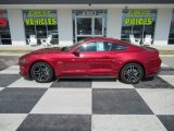Ruby Red Ford Mustang in 2019
