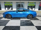 Kona Blue Ford Mustang in 2019