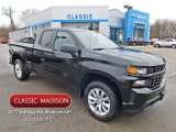2020 Black Chevrolet Silverado 1500 Custom Double Cab 4x4 #137531237