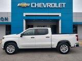 2020 Summit White Chevrolet Silverado 1500 Custom Crew Cab 4x4 #137543794