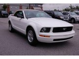 2006 Performance White Ford Mustang V6 Deluxe Convertible #13752271