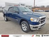 2020 Patriot Blue Pearl Ram 1500 Big Horn Crew Cab 4x4 #137701603