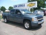 2007 Blue Granite Metallic Chevrolet Silverado 1500 LT Crew Cab 4x4 #13744727