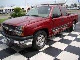 2004 Sport Red Metallic Chevrolet Silverado 1500 LT Extended Cab #13752665