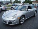 2008 Arctic Silver Metallic Porsche 911 Carrera Coupe #13735668