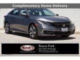 2019 Sonic Gray Pearl Honda Civic LX Sedan #138179900