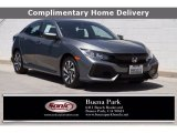 2019 Sonic Gray Pearl Honda Civic LX Hatchback #138336134