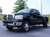 2009 Brilliant Black Crystal Pearl Dodge Ram 3500 Big Horn Edition Quad Cab 4x4 Dually #13822130