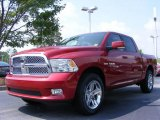 2009 Inferno Red Crystal Pearl Dodge Ram 1500 Sport Crew Cab #13822135