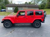 Firecracker Red Jeep Wrangler Unlimited in 2016