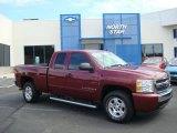 2008 Deep Ruby Metallic Chevrolet Silverado 1500 LT Extended Cab 4x4 #13823044