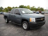 2008 Blue Granite Metallic Chevrolet Silverado 1500 Work Truck Extended Cab #13823535