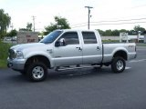 2004 Silver Metallic Ford F250 Super Duty Lariat Crew Cab 4x4 #13827001