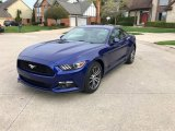 2016 Deep Impact Blue Metallic Ford Mustang EcoBoost Premium Coupe #138485643