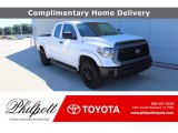 2019 Super White Toyota Tundra TSS Off Road Double Cab #138801084