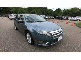 2011 Steel Blue Metallic Ford Fusion Hybrid #138988521