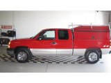 2005 Victory Red Chevrolet Silverado 1500 LS Extended Cab 4x4 #13896299