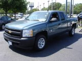 2007 Blue Granite Metallic Chevrolet Silverado 1500 Extended Cab #13875308