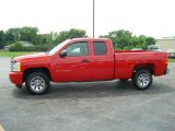 2007 Victory Red Chevrolet Silverado 1500 LS Extended Cab #13884883