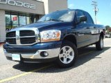 2006 Patriot Blue Pearl Dodge Ram 1500 SLT Quad Cab #13880175
