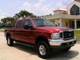 2003 Toreador Red Metallic Ford F250 Super Duty Lariat Crew Cab 4x4 #13890910