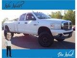 2008 Bright White Dodge Ram 3500 SLT Quad Cab 4x4 Dually #139283582