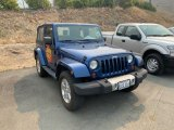 2009 Jeep Wrangler Deep Water Blue Pearl Coat