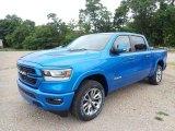 2020 Hydro Blue Pearl Ram 1500 Laramie Crew Cab 4x4 #139371781